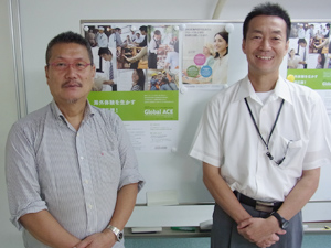 左が『Global  ACE』の運営を担うJAOS事務局長の林隆樹さん、右が『Global  ACE』アドバイザー の石川桂さん