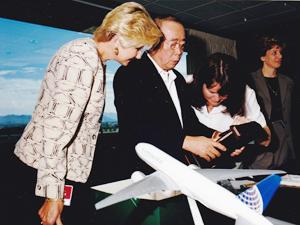 コンチネンタル航空時代の鶴田氏