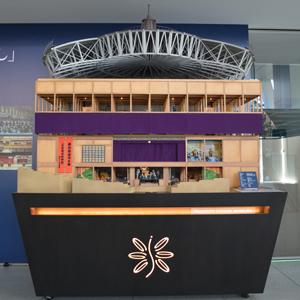 乃村工藝社の社屋に展示されている舞台模型