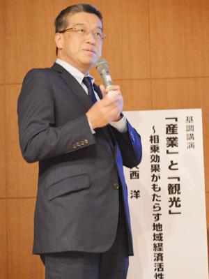 基調講演を行った「新宿観光振興協会」理事長の大西洋氏
