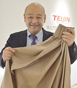 『プルシェルター®』を担当する、帝人フロンティア株式会社 生活資材本部 主管の岸本隆久さん