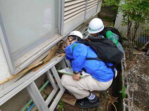 熊本地震の被災地で活動する東京都職員
