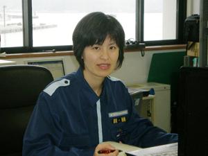 育児をしながら、室蘭海上保安部の交通課長も経験。