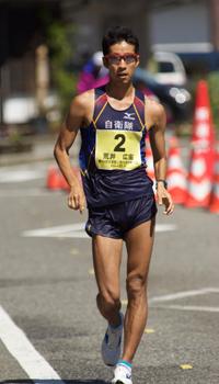 2016年4月に石川県輪島で行われた日本選手権50㎞競歩の様子。ここで荒井3尉は2位となり、リオ五輪出場権を獲得した(提供:自衛隊体育学校)