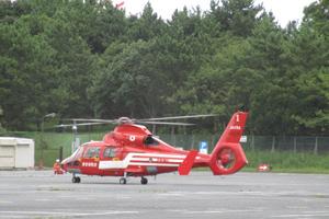 葛西臨海公園でのヘリコプター離発着訓練