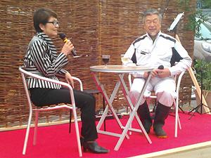 八王子フードフェスティバルで、八王子のスーパースター磯沼牧場の磯沼正徳さんと対談