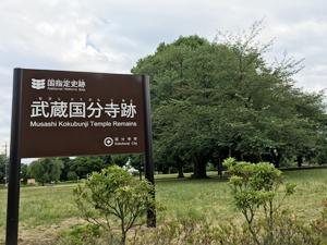 大正11年に国指定史跡に指定された武蔵国分寺跡