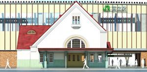 旧国立駅舎再築外観イメージ
