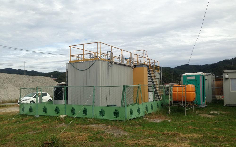 「ユニット型排水処理システム」は、東日本大震災の避難所でも導入された