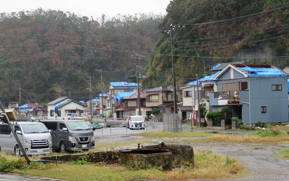 漁港近くの民家の被災状況を視察